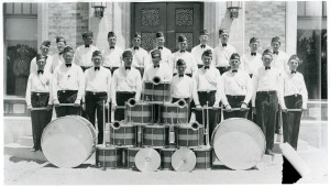 AMERICAN LEGION BAND in front of courthouse 1930's