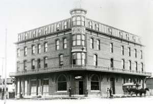 Denton Hotel on 1st and E Torn down in 1930's