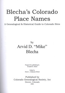 blecha's colorado place names